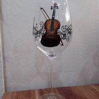 ručně malovaná sklenice