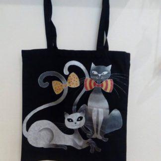 bavlněná malovaná taška přes rameno