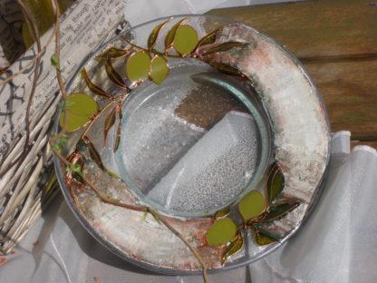 malovaný talíř na olivy