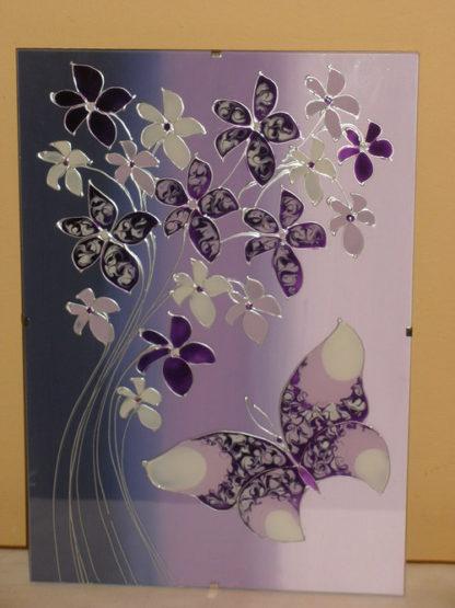 skleněný obrázek na stěnu