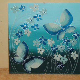 malovaný obrázek na skle
