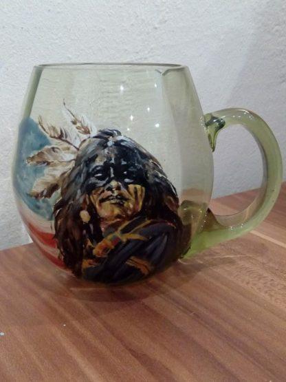 malovaná sklenice