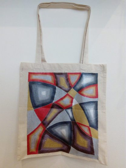 bavlněná malovaná taška