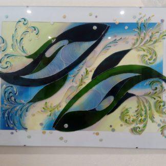 malovaná dekorace na stěnu