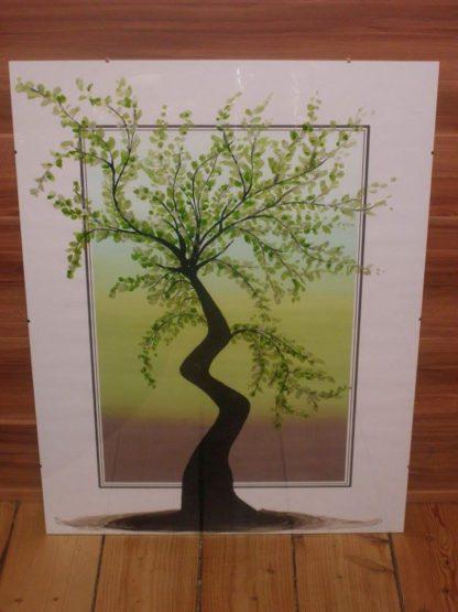 malované stromy