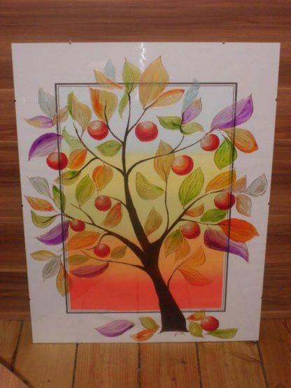 malovaný strom na stěnu