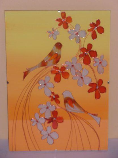 obrázek skleněný na stěnu