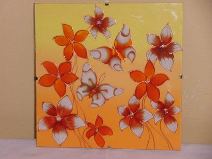 skleněná dekorace na stěnu