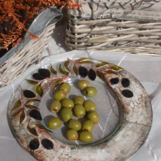 malovaná miska na olivy