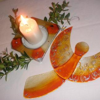 skleněná dekorace vánoční