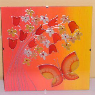 skleněná dekorace