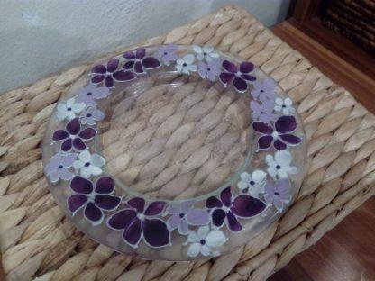 květy na skle