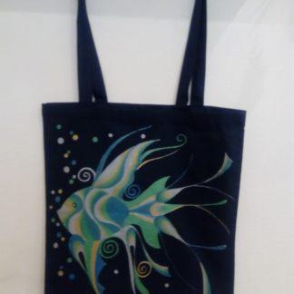 textilní malovaná taška