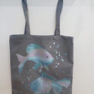 malovaná nákupní taška